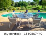 dining table with chairs in the ...   Shutterstock . vector #1560867440