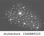 sparkle stars with magical... | Shutterstock .eps vector #1560889223