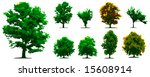 vector trees | Shutterstock .eps vector #15608914