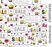sale banner. seamless pattern.... | Shutterstock . vector #1560926636