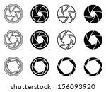 camera shutter aperture icons | Shutterstock .eps vector #156093920