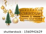 merry christmas and happy new... | Shutterstock .eps vector #1560942629