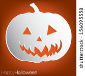 jack o' lantern concave... | Shutterstock .eps vector #156095558