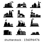 factory icon vector | Shutterstock .eps vector #156096476
