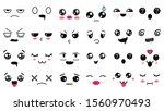 kawaii cute faces. manga style... | Shutterstock .eps vector #1560970493