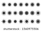 sun icon set. summer symbols... | Shutterstock .eps vector #1560975506