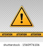 attention caution. danger sign... | Shutterstock .eps vector #1560976106