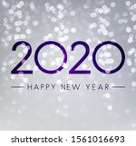 silver shiny happy new year... | Shutterstock .eps vector #1561016693