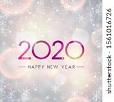 festive shiny 2020 happy new... | Shutterstock .eps vector #1561016726