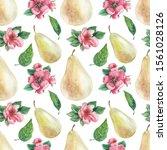 watercolor seamless pattern... | Shutterstock . vector #1561028126