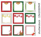 christmas photo frame vector... | Shutterstock .eps vector #1561030949