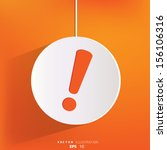 exclamation danger web icon | Shutterstock .eps vector #156106316