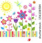 summer funny card. raster copy | Shutterstock . vector #156108584