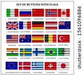 set of banners with flags.... | Shutterstock . vector #1561096886
