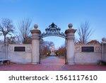 The Entrance Gate Of Cambridge...