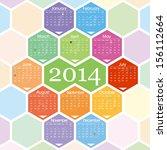 2014 calendar | Shutterstock .eps vector #156112664
