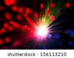 close op of fiber optics ... | Shutterstock . vector #156113210