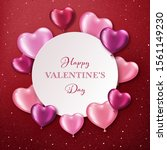 valentines day background with... | Shutterstock .eps vector #1561149230