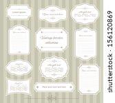 vintage frame set. calligraphic ... | Shutterstock .eps vector #156120869