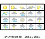 weather icon set | Shutterstock .eps vector #156121583