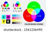 color mixing scheme or color... | Shutterstock .eps vector #1561236490