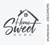 typography quote home sweet... | Shutterstock .eps vector #1561244296
