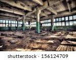 old abandoned factory  indoors.  | Shutterstock . vector #156124709