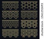 set of golden seamless borders  ... | Shutterstock .eps vector #1561252693
