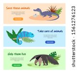 save disappearing wild animals... | Shutterstock .eps vector #1561276123