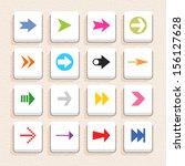 16 arrow sign icon set 02 ...