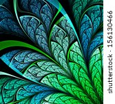Dark Fractal Plant  Digital...