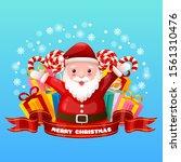 christmas illustration with... | Shutterstock .eps vector #1561310476
