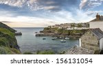 a panoramic view of port isaac...