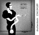 Retro Party Background With...