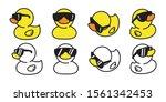 Duck Vector Rubber Duck Icon...