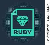 green ruby file document.... | Shutterstock .eps vector #1561343326