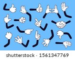 cartoon arms. gloved hands with ... | Shutterstock .eps vector #1561347769