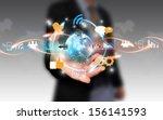 social media social network... | Shutterstock . vector #156141593