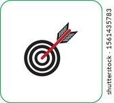 target icon. flat design gray...