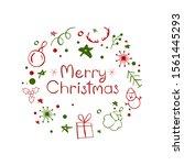 merry christmas  lettering...   Shutterstock .eps vector #1561445293