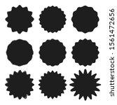 set of vector black wavy grunge ...   Shutterstock .eps vector #1561472656