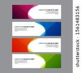 vector abstract design banner... | Shutterstock .eps vector #1561483156
