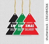 a christmas tag set of three | Shutterstock .eps vector #1561484266
