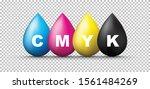 a group of cmyk ink splashes  | Shutterstock .eps vector #1561484269