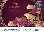 2020 happy chinese new year of...   Shutterstock .eps vector #1561486000