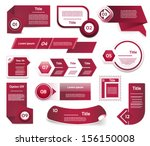 set of  red violet vector... | Shutterstock .eps vector #156150008