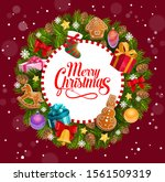 christmas holiday greeting ... | Shutterstock .eps vector #1561509319