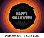 halloween background circle...   Shutterstock .eps vector #156151688