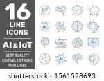 ai  iiot  iot  cloud computing  ... | Shutterstock .eps vector #1561528693