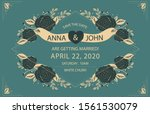 vintage wedding invetation card ... | Shutterstock .eps vector #1561530079